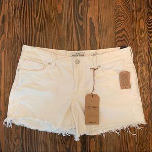 Lucky Brand Distressed white denim shorts